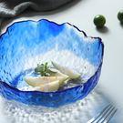 創意異形日式金邊透明玻璃碗家用蔬菜沙拉碗...