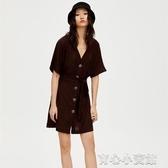 PULL&BEAR 法式洋裝女冬收腰裙子仙女超仙森繫 阿卡娜