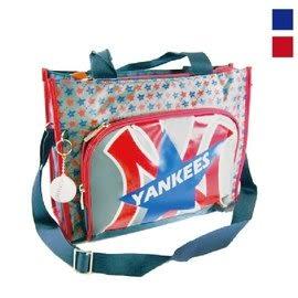 Backbager 背包族【MLB 美國大聯盟 洋基】超輕量MLB洋基之星補習袋/肩背包/手提袋 紅/藍