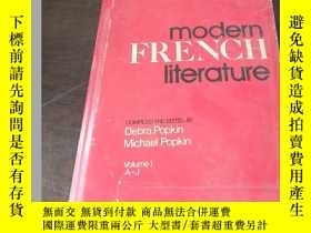 二手書博民逛書店Modern罕見French literature (A Lib