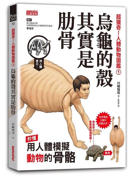 超獵奇!人體動物圖鑑①烏龜的殼其實是肋骨