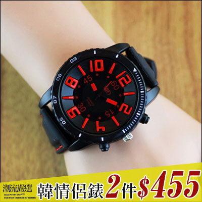 任選2件455元。ManStyle潮流嚴選時尚原宿立體字百搭個性果凍手錶【R9S0401】