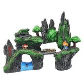 魚缸造景 飾品 小魚缸裝飾品造景石套餐布景假山石塑料仿真水草躲避屋水族箱擺件 玩趣3C