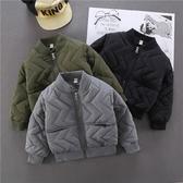 中小童男童外套棉服夾克兒童洋氣棒球服童裝棉衣潮 格蘭小舖