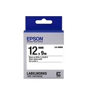 EPSON LK-4WBN 原廠標籤帶 (一般12mm )白黑 C53S654401