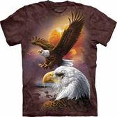 ~摩達客~ 大 3XL 美國 ~The Mountain ~自然純棉系列鷹與雲 T 恤10