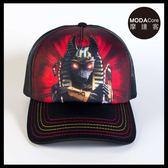【摩達客】(預購)美國進口The Mountain 胡狼戰士 藝術棒球帽網帽/5-Panel新五分割帽