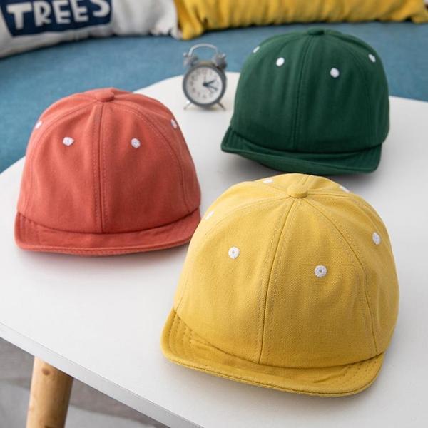 春秋寶寶鴨舌帽出游男童太陽帽韓版純色女童防曬遮陽帽兒童帽子潮
