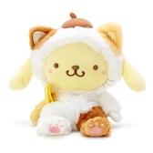 〔小禮堂〕布丁狗 沙包絨毛玩偶娃娃《S.黃》沙包玩具.擺飾.變裝貓咪系列 4901610-24455