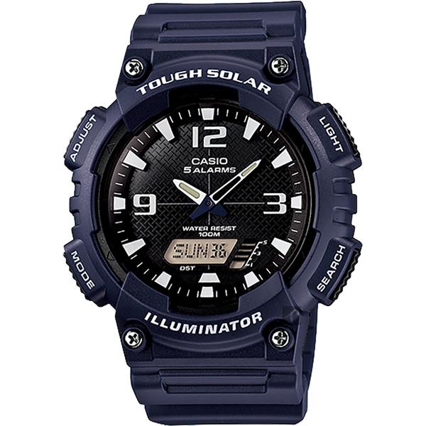CASIO 卡西歐 太陽能電力手錶-海軍藍 AQ-S810W-2A2 / AQ-S810W-2A2VDF