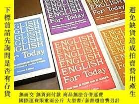 二手書博民逛書店ENGLISH罕見FOR TODAY 今日英語 第1.2.4.5