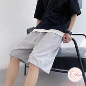 大碼加大運動短褲男寬鬆直筒中褲運動五分褲【大碼百分百】