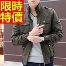 男款夾克軍裝品味-立領韓版修身防風男外套4色62o20【巴黎精品】