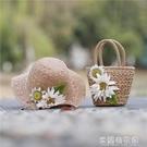 編織包 韓版夏天單肩斜跨手提花朵草編包沙灘包草包藤編包編織女包包 快速出貨