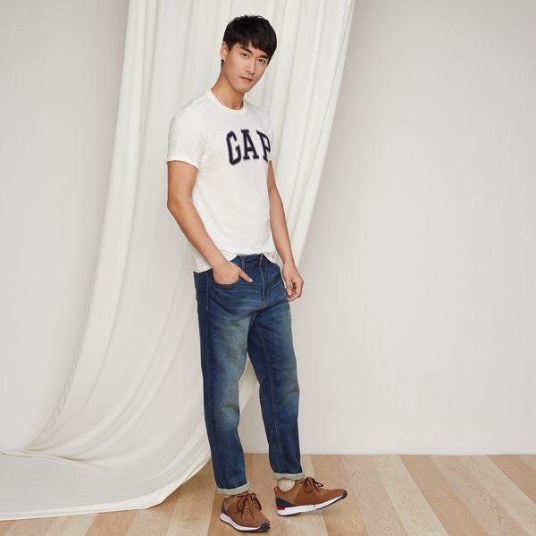 Gap男裝 LOGO系列純棉短袖圓領T恤 639065-光感亮白
