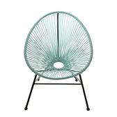 亞爾編織蛋型椅-綠