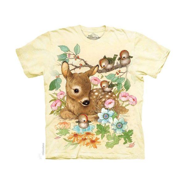 【摩達客】(預購)(男童/女童裝)美國進口The Mountain 小鹿斑比 純棉環保短袖T恤(10416045084a)