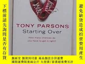 二手書博民逛書店英文原版罕見Starting Over by Tony Pars