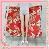 民族風長裙 度假沙灘裙 一片式繫帶雪紡半身裙 A字群 降價兩天