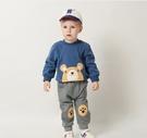 兒童男女童刺繡熊頭長袖套裝 男女童休閒運動套裝 圓領長袖套裝 88593
