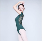 紅舞鞋 N平紋新款後背交叉蕾絲體操服芭蕾舞服舞蹈練功服夏季5801