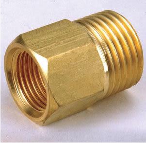 銅接頭 水電材料 風壓接頭 快速接頭 氣壓缸和風用 之錶接 1/4 PT內牙*3/8 PT外牙