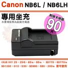 【小咖龍】 Canon NB6L NB-6L NB6LH 副廠充電器 座充 坐充 IXUS 85 95 105 200 210 Digital 25 IS 保固90天 充電器