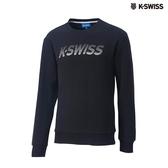 K-SWISS Crew Neck Sweatshirt圓領長袖上衣-男-黑