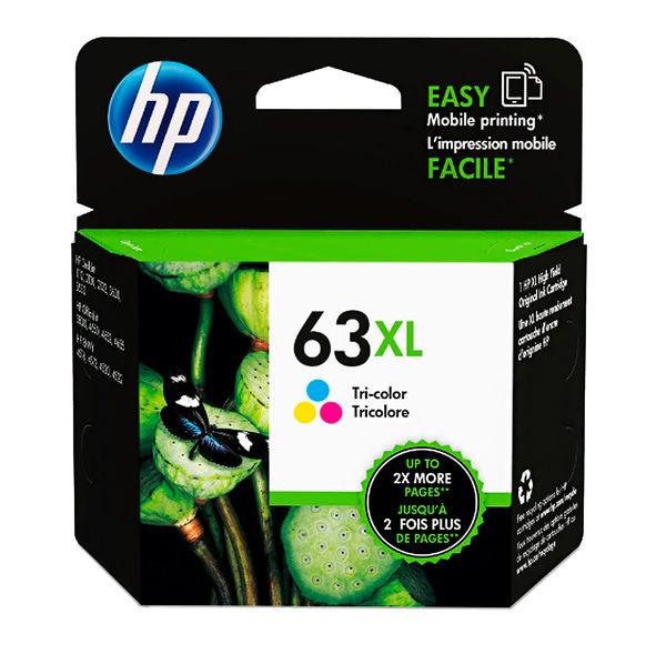 F6U63AA HP 63XL  彩色墨水匣 適用 DJ3630/2180/2130/1110/ENVY4520/OJ3830/4650
