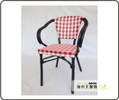 {{ 海中天休閒傢俱廣場 }} G-52 戶外時尚 編藤桌椅系列 47-6 鋁布扶手椅