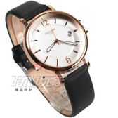 MITINA米提娜 點點時尚 皮革防水腕錶 日期顯示窗 男錶 中性錶 女錶 玫瑰金 M320玫黑