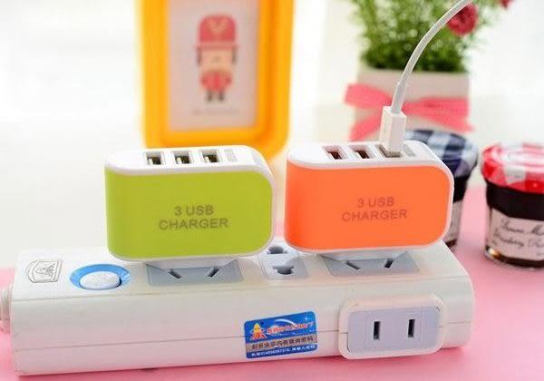 【現貨】馬卡龍色充電器 充電頭 三孔手機充電頭 糖果色手機充電器