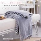 【BELLE VIE】韓版球球牛奶絨蓋毯150X200cm(格調灰)