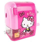 〔小禮堂〕Hello Kitty 削鉛筆機《桃粉.側坐.多蝴蝶結.盒裝》 4713791-96243