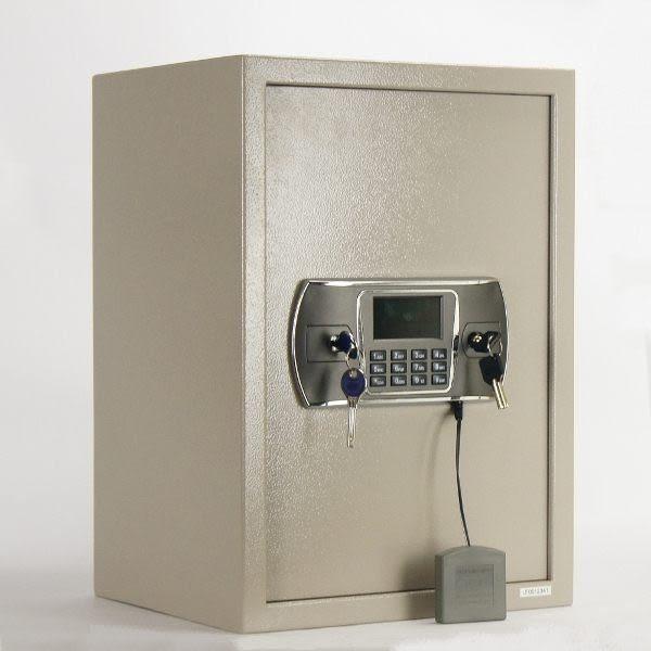 [ 家事達 ] 鐵人 液晶式雙鑰匙震動警報 (大) 保險箱 保險櫃/金庫 特價