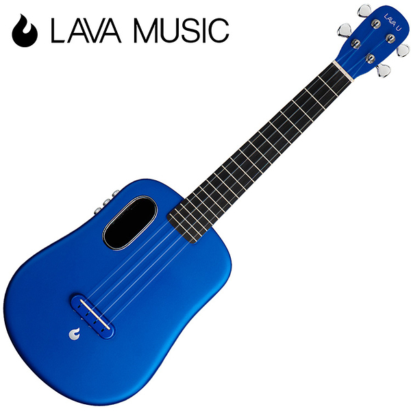 LAVA U 拿火烏克麗麗-26吋/L2 mini /Free Boost/碳纖維材質/插電加震款/藍色