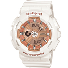 BA-110-7A1 橘x白  BABY-G 運動時尚腕錶