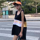 夏韓版 寬鬆無袖T恤復古背心女學生上衣