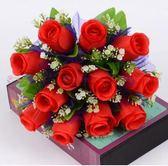 玫瑰花仿真花束韓式紗蕾居家客廳室內擺設絹花婚慶新娘手捧花假花  初見居家
