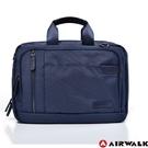 Backbager 背包族【美國 AIRWALK】移動城市多夾層手提公事包/外出包/手提包_籃色