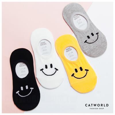 Catworld 正韓空運*BIG SMILE棉質船型襪【18900262】‧F*特價