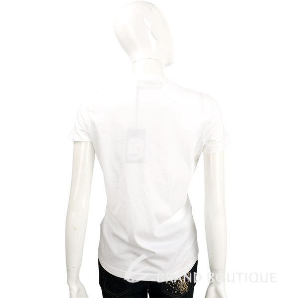 DSQUARED2 白色性感大眼女孩圖騰棉質T恤 1620141-20