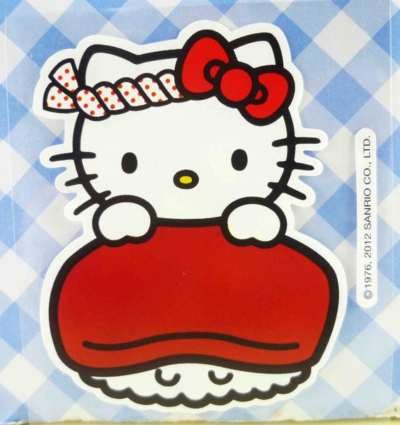 【震撼精品百貨】Hello Kitty 凱蒂貓~KITTY貼紙-壽司紅