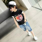 童裝男童短袖T恤兒童夏季上衣男孩中大童韓版潮夏裝2018新款