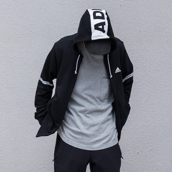 IMPACT ADIDAS SV HD TT LINEAR 黑 連帽外套 街頭 運動 百搭 三線 男女可穿 BR0212
