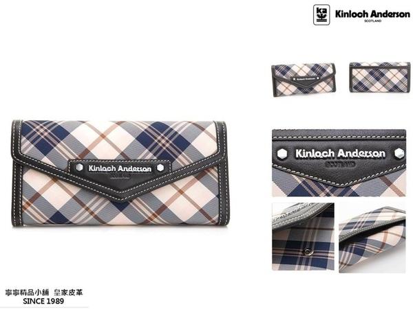 【寧寧精品*台中店】Kinloch Anderson 金安德森 KA151202BKF【頂級牛皮 超多夾層長夾 黑色】-2