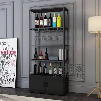 紅酒展示架 簡約鐵藝紅酒架多層落地酒櫃酒吧葡萄酒收納展示架隔斷置物架超市T