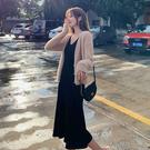 水貂絨針織外套+吊帶裙 兩件式套裝-媚儷香檳-【FD0180】