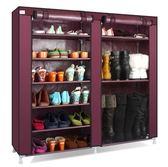 開迪雙排大容量簡易鞋架收納櫃無紡布鞋櫃防塵組合創意置物架HPXW跨年提前購699享85折