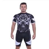 自行車衣套裝-含短袖腳踏車服+單車褲-多重選擇帥氣男運動服69u5【時尚巴黎】